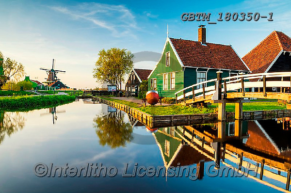 Tom Mackie, LANDSCAPES, LANDSCHAFTEN, PAISAJES, photos,+Dutch, Europa, Europe, European, Holland, Netherlands, Tom Mackie, Zaanse Schans, blue, bridge, bridges, building, buildings,+canal, canals, color, colorful, colour, colourful, farmhouse, green, heritage, historic, horizontal, horizontals, house, hou+ses, landscape, landscapes, museum, reflecting, reflection, reflections, scenery, scenic, tourist attraction, traditional, wa+ter, water's edge, waterside, windmill, windmills,Dutch, Europa, Europe, European, Holland, Netherlands, Tom Mackie, Zaanse S+,GBTM180350-1,#l#, EVERYDAY