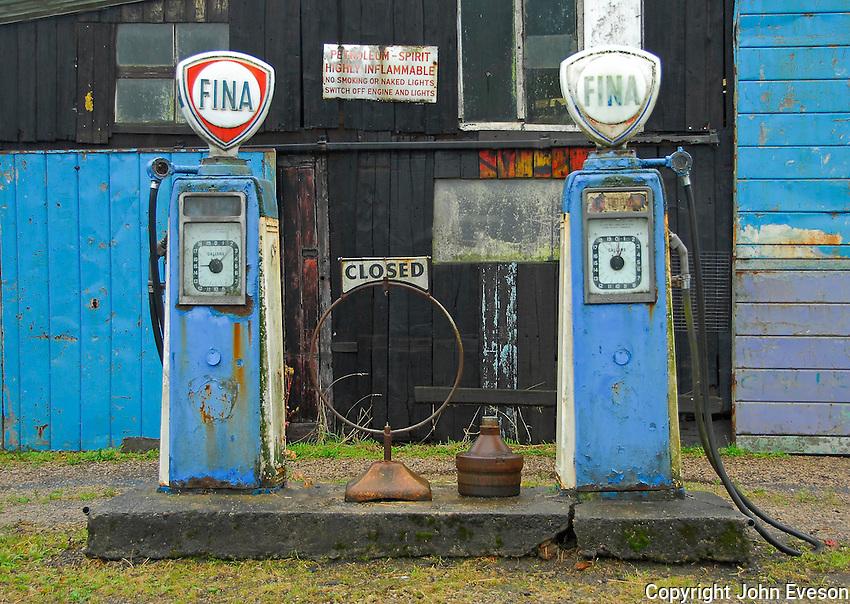 Old garage, petrol station, near Lancaster.