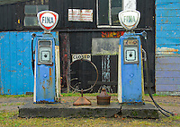 Old garage, petrol station, near Lancaster.