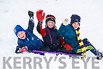 Max Ryan Charlie Ryan and Archie Walsh having fun in snow in Ballybunnion on Friday.