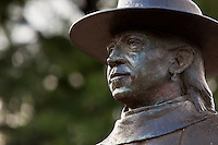 Abstract of Blues Legend Stevie Ray Vaughan Statue in Austin, Texas