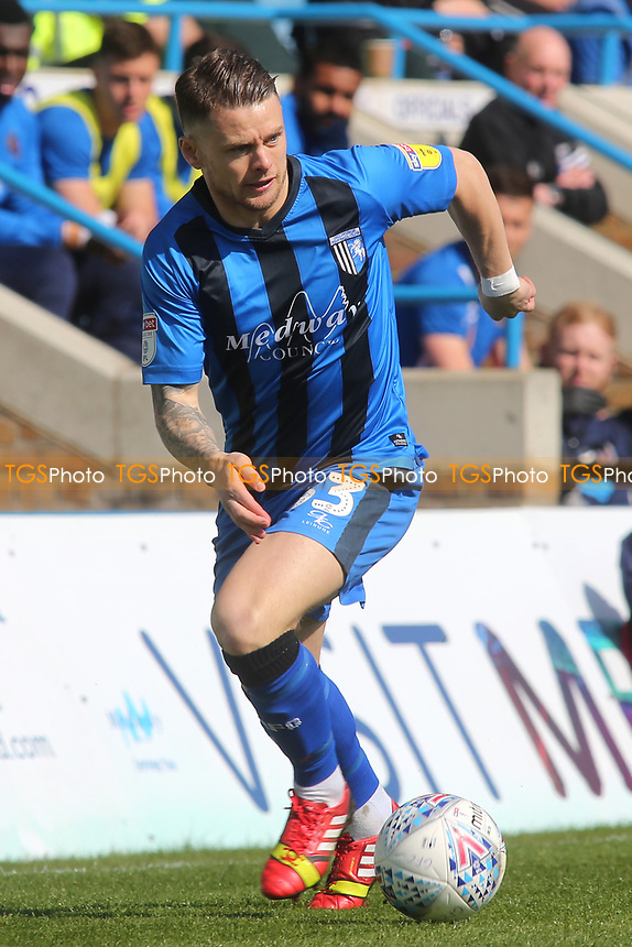 Gillingham's Mark Byrne in action during Gillingham vs Shrewsbury Town, Sky Bet EFL League 1 Football at The Medway Priestfield Stadium on 13th April 2019