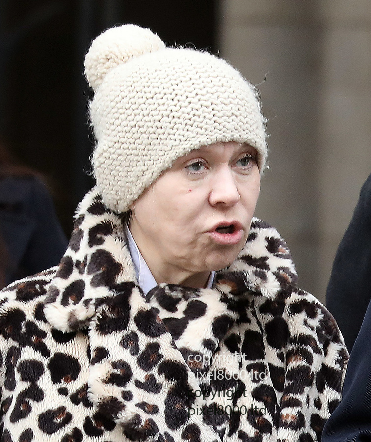 Pic shows: Shameless actress Tina Malone<br /> avoid jail with suspended sentence after tweeting picture of Jamie Bulger killer<br /> <br /> seen leaving court today in tears with her lawyers<br /> <br /> 13.3.19<br /> <br /> <br /> <br /> <br /> pic by Gavin Rodgers/Pixel8000