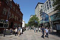 Pictured: The Hayes, Cardiff Thursday 25 May 2017<br />Re: Preparations for the UEFA Champions League final, between Real Madrid and Juventus in Cardiff, Wales, UK.