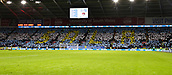 2nd February 2019, Cardiff City Stadium, Cardiff, Wales; EPL Premier League football, Cardiff City versus AFC Bournemouth; A sign reading 'Sala' is held in memory of Emiliano Sala before the game