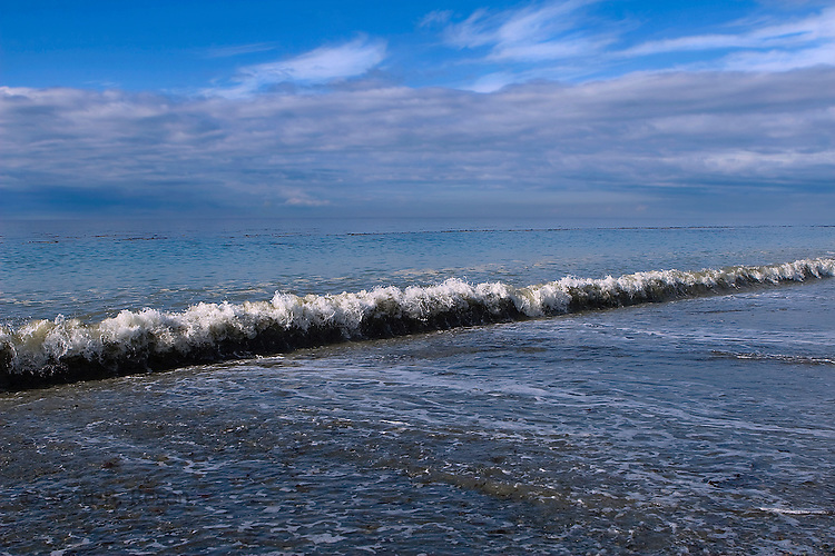 Wave breaking at the Dungeness Spit, Olympic Peninsula, Washington State, United States