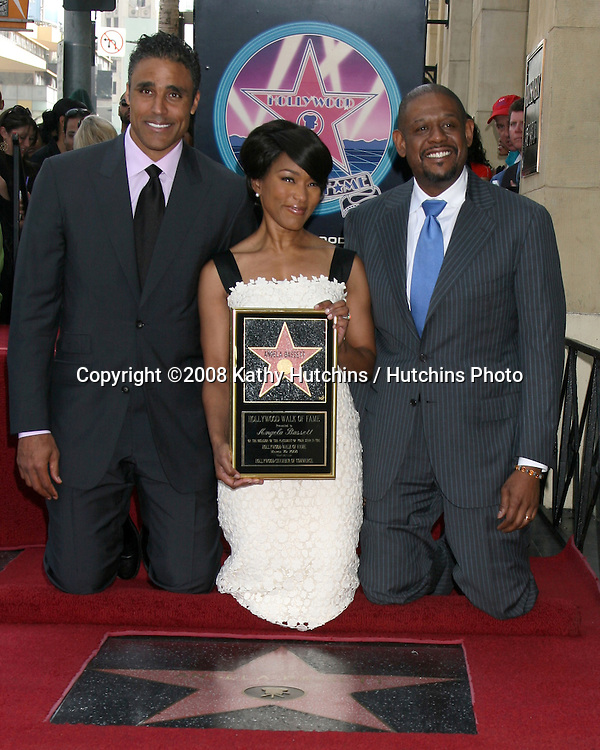 Rick Fox, Angela Bassett, and  Forest Whitaker.Angela Bassett Receives a Star on the Hollywood Walk of Fame.Hollywood Boulevard.Los Angeles, CA.March 20, 2008.©2008 Kathy Hutchins / Hutchins Photo