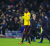 9th December 2017, Turf Moor, Burnley, England; EPL Premier League football, Burnley versus Watford; Abdoulaye Doucoure of Watford applauds the fans at the end of the game
