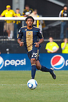 24 OCTOBER 2010:  Philadelphia Union defender Sheanon Williams (25) during MLS soccer game against the Columbus Crew at Crew Stadium in Columbus, Ohio on August 28, 2010.