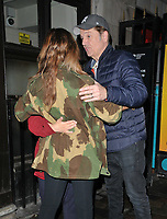 "Louise Redknapp and Brian Conley at the ""9 To 5 The Musical"" theatre cast stage door departures, Savoy Theatre, The Strand, London, England, UK, on Friday 07th June 2019.<br /> CAP/CAN<br /> ©CAN/Capital Pictures"
