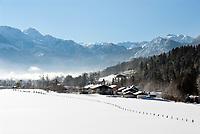 Deutschland, Bayern, Oberbayern, Berchtesgadener Land, Bischofswiesen: Urlaubsort | Germany, Upper Bavaria, Berchtesgadener Land, Bischofswiesen: holiday resort