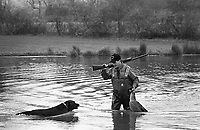 Goose Hunt in Buckingham, Pennsylvania, 1991