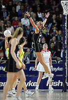 18.07.2007 Silver Ferns Leana de Bruin in action during the Silver Ferns v Australia Fisher and Paykel Netball Test Match at Vector Arena, Auckland. Mandatory Photo Credit ©Michael Bradley.