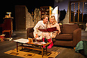 London, UK. 17.07.2014. Mountview Academy of Theatre Arts presents THE HOUSE OF BLUE LEAVES, by John Guare, directed by Jacqui Somerville, at the Unicorn Theatre, as part of the Postgraduate Season 2014. Picture shows: Cat Losty (Bunny Flingus) and Tim Gibson (Artie Shaughnessy). Photograph © Jane Hobson.