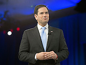 United States Senator Marco Rubio (Republican of Florida), a candidate for the Republican Party nomination for President of the United States, speaks at the Conservative Political Action Conference (CPAC) at the Gaylord National Resort and Convention Center in National Harbor, Maryland on Saturday, March 5, 2016.<br /> Credit: Ron Sachs / CNP