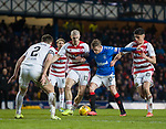 04.03.2020: Rangers v Hamilton: Steven Davis tries to find some space