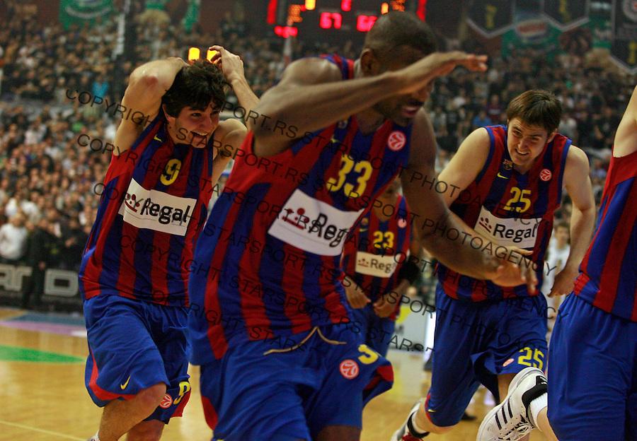 Sport Kosarka Basketball Euroleague Evroliga Partizan Barcelona Barselona Beograd Srbija 3.2.2010. (credit image & photo: Pedja Milosavljevic / +381 64 1260 959 / thepedja@gmail.com / STARSPORT)