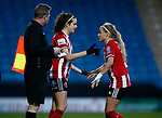Keri Matthews replaces Olivia Fegusson of Sheffield Utd  during the The FA Women's Championship match at the Proact Stadium, Chesterfield. Picture date: 8th December 2019. Picture credit should read: Simon Bellis/Sportimage