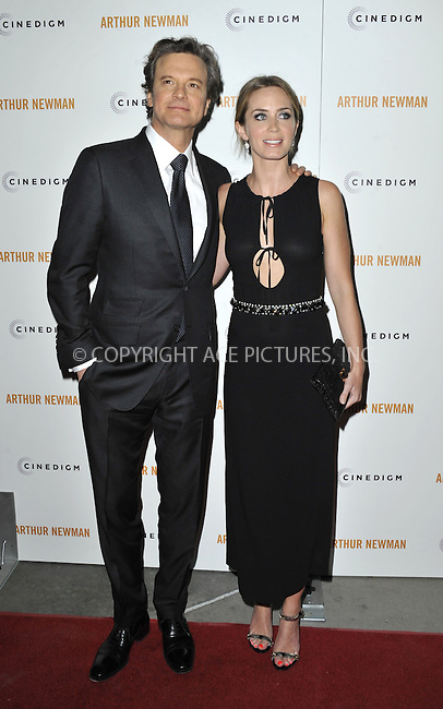 WWW.ACEPIXS.COM....April 18 2013, LA....Actors Colin Firth and Emily Blunt arriving at the Los Angeles premiere of 'Arthur Newman' at ArcLight Hollywood on April 18, 2013 in Hollywood, California.......By Line: Peter West/ACE Pictures......ACE Pictures, Inc...tel: 646 769 0430..Email: info@acepixs.com..www.acepixs.com