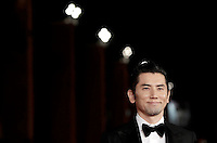 L'attore giapponese Masahiro Motoki posa sul red carpet per la presentazione del film &quot;The Long Excuse&quot; al Festival Internazionale del Film di Roma, 18 ottobre 2016.<br /> Japanese actor Masahiro Motoki poses on the red carpet to present the movie &quot;The Long Excuse&quot; during the international Rome Film Festival at Rome's Auditorium,18 October 2016.<br /> UPDATE IMAGES PRESS/Isabella Bonotto