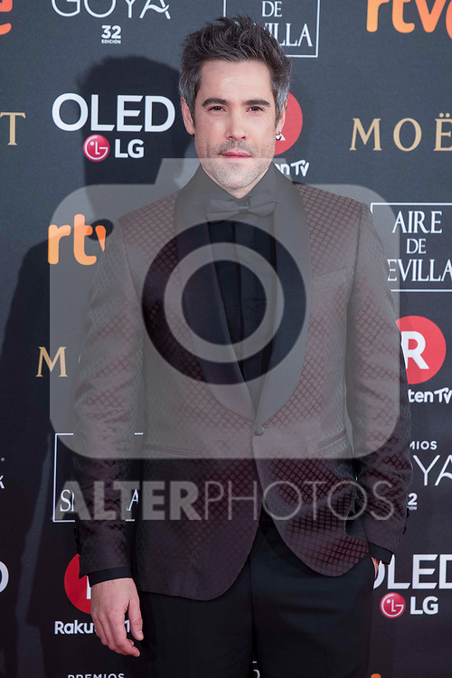 Unax Ugalde attends red carpet of Goya Cinema Awards 2018 at Madrid Marriott Auditorium in Madrid , Spain. February 03, 2018. (ALTERPHOTOS/Borja B.Hojas)