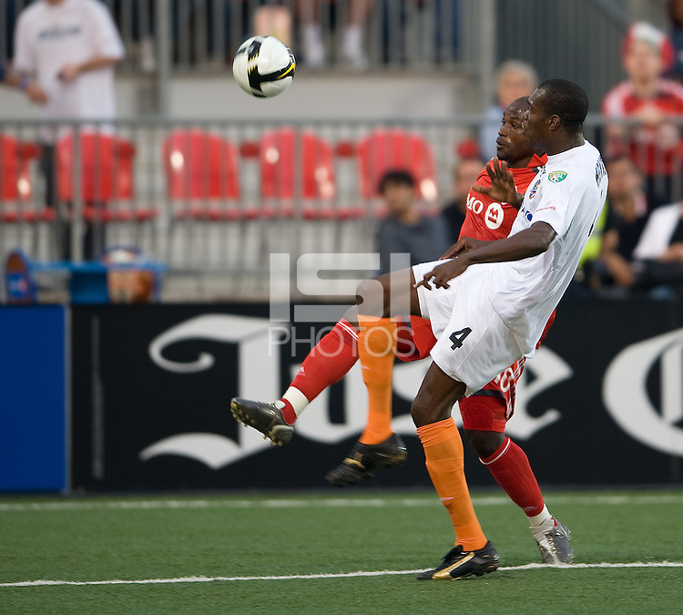 29 July 2009: Puerto Rico Islanders defender Neil Nigel Henry #4 and in action during a CONCACAF game at BMO Field in Toronto between the Puerto Rico Islanders and Toronto FC.The Puerto Rico Islanders won 1-0..