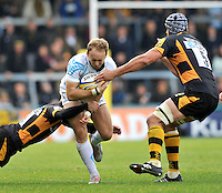High Wycombe, England. Chris Pennell of Worcester Warriors in action during the Aviva Premiership match between London Wasps and Worcester Warriors at Adam Park on October 7, 2012 in High Wycombe, England.