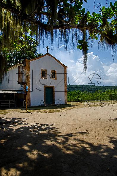 Capela Nossa Senhora da Conceição no Parque Ecológico de Paraty-Mirim, Paraty - RJ, 01/2014.