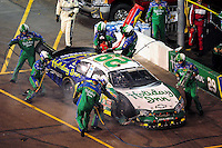 Apr 11, 2008; Avondale, AZ, USA; NASCAR Nationwide Series driver Jeff Burton pits after crashing during the Bashas Supermarkets 200 at the Phoenix International Raceway. Mandatory Credit: Mark J. Rebilas-