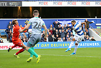 first goal scored for by Queens Park Rangers by Nahki Wells of Queens Park Rangers during Queens Park Rangers vs Blackburn Rovers, Sky Bet EFL Championship Football at Loftus Road Stadium on 5th October 2019