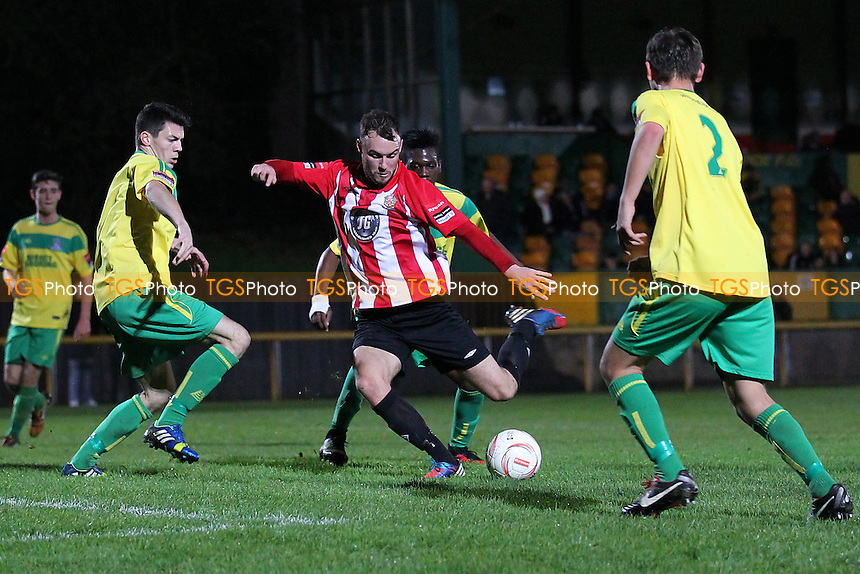 Martin Tuohy in action for Hornchurch - Thurrock vs AFC Hornchurch - Robert Dyas League Cup 2nd Round Football at Ship Lane, Thurrock FC - 11/11/14 - MANDATORY CREDIT: Gavin Ellis/TGSPHOTO - Self billing applies where appropriate - contact@tgsphoto.co.uk - NO UNPAID USE