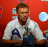David Moyes in the MLS All Stars v Everton 4-3 Everton win at Rio Tinto Stadium in Sandy, Utah on July 29, 2009