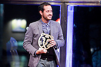Rotterdam, 30 january 2015<br /> International Film Festival Rotterdam 2015, <br /> The Award ceremony of the 44th International Film Festival Rotterdam - IFFR 2015. Director Carlos M. Quintela  wins Hivos Tiger Awards 2015 with La Obra del Siglo.<br /> Photo by Felix Kalkman Copyright and ownership by photographer.<br />