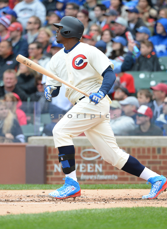 Chicago Cubs Jorge Soler (68) during a game against the Kansas City Royals on May 31, 2015 at Wrigley Field in Chicago, IL. The Cubs beat the Royals 2-1.