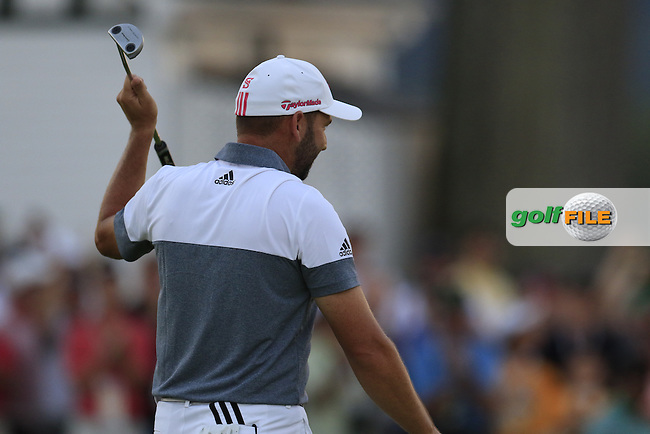 Sergio Garcia (ESP) sinks his birdie putt on the 9th green during Friday's Round 2 of the 2016 U.S. Open Championship held at Oakmont Country Club, Oakmont, Pittsburgh, Pennsylvania, United States of America. 17th June 2016.<br /> Picture: Eoin Clarke | Golffile<br /> <br /> <br /> All photos usage must carry mandatory copyright credit (&copy; Golffile | Eoin Clarke)