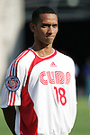 13 March 2008: Yasnier Rosales (CUB) (18). The Honduras U-23 Men's National Team defeated the Cuba U-23 Men's National Team 2-0 at Raymond James Stadium in Tampa, FL in a Group A game during the 2008 CONCACAF's Men's Olympic Qualifying Tournament.