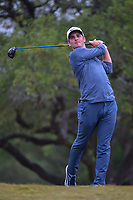 Denny McCarthy (USA) watches his tee shot on 2 during Round 3 of the Valero Texas Open, AT&amp;T Oaks Course, TPC San Antonio, San Antonio, Texas, USA. 4/21/2018.<br /> Picture: Golffile | Ken Murray<br /> <br /> <br /> All photo usage must carry mandatory copyright credit (&copy; Golffile | Ken Murray)