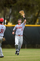 Ball State Cardinals outfielder Matt Eppers (35) during a game against the Dartmouth Big Green on March 7, 2015 at North Charlotte Regional Park in Port Charlotte, Florida.  Ball State defeated Dartmouth 7-4.  (Mike Janes/Four Seam Images)