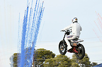 LAS VEGAS, NV - JULY 8: Travis Pastrana attemps Evel Knievel's three most iconic stunts in three hours for Evel Live at Ceasar's Palace in Las Vegas, Nevada on July 8, 2018. <br /> CAP/MPI/DAM<br /> &copy;DAM/MPI/Capital Pictures