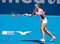 Jelena Dokic (AUS) against Svetlana Kuznetsova (RUS) in the first round of the women's singles. Svetlana Kuznetsova beat Jelena Dokic 6-2 6-2..International Tennis - Medibank International Tournament - Olympic Park - Sydney - Day 1 - Sun 9th January 2011..© Frey - AMN Images, Level 1, Barry House, 20-22 Worple Road, London, SW19 4DH.Tel - +44 208 947 0100.Email - Mfrey@advantagemedianet.com.Web - www.amnimages.photshelter.com