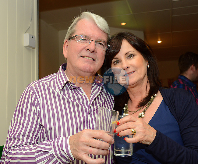 Mark Carr celebrating his 60th birthday with his wife Cathy at a party in the Rugby Club. Photo: Andy Spearman. www.newsfile.ie