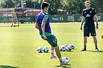 24.06.2020, wohninvest Weserstadion Trainingsplatz, Bremen, GER, 1. FBL, Training SV Werder Bremen, <br /><br />im Bild<br />Ilia Gruev (Werder Bremen #28) am Ball.<br /><br />Foto © nordphoto / Paetzel