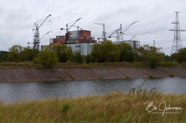 Unfinished reactors 5 and 6 at the Chernobyl Nuclear Power Plant.<br />