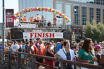 Finish line of the missoula marathon in missoula, montana