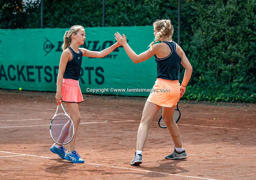 Hilversum, Netherlands, Juli 31, 2019, Tulip Tennis center, National Junior Tennis Championships 12 and 14 years, NJK, Girls Doubles: Yara Hamerling  and Ruth Jonker (NED)<br /> Photo: Tennisimages/Henk Koster