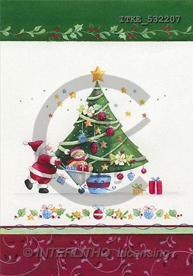 Isabella, CHRISTMAS SANTA, SNOWMAN, paintings, tree, santa(ITKE532207,#X#) Weihnachtsmänner, Schneemänner, Weihnachen, Papá Noel, muñecos de nieve, Navidad, illustrations, pinturas