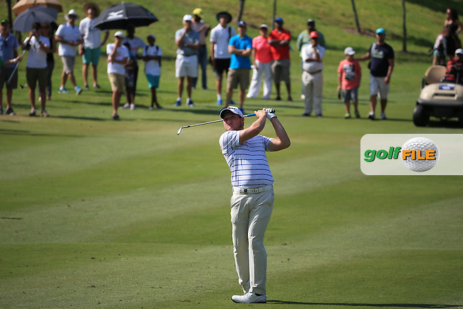 Zander Lombard (RSA) plays to the 15th during the Final Round of the 2016 Tshwane Open, played at the Pretoria Country Club, Waterkloof, Pretoria, South Africa.  14/02/2016. Picture: Golffile | David Lloyd<br /> <br /> All photos usage must carry mandatory copyright credit (&copy; Golffile | David Lloyd)