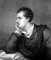 BNPS.co.uk (01202 558833)<br /> Pic: AmberleyBooks/BNPS<br /> <br /> Lord Byron. <br /> <br /> A lock of the great English Romantic poet Lord Byron's hair has sold for £18,000.<br /> <br /> The sample of the early 19th century wordsmith's light brunette hair has been kept in a gold and enamel locket for almost 200 years.<br /> <br /> George Byron died of fever during the Greek War of Independence fighting against the Ottomans aged 36 in 1824.<br /> <br /> His lock of hair was taken by his Italian companion Count Pietro Gamba who was with Byron on his final days.