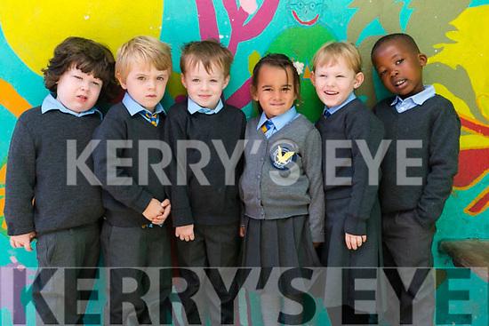 Junior Infants Class of 2017 at St John's Parochial School, Ashe Street, Tralee, on Friday morning last, were l-r: Doreen O'Keeffe, Luke Power, Shane Rogers, Sophia Osmanavric, Zofia Buniewicz and Jotham Kimanuka.