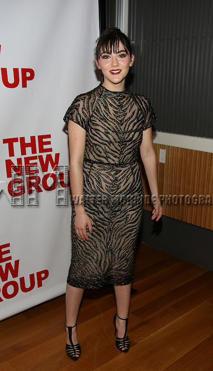 """Isabelle Fuhrman attends the Opening Night of The New Group World Premiere of """"All The Fine Boys"""" at the The Green Fig Urban Eatery on March 1, 2017 in New York City."""